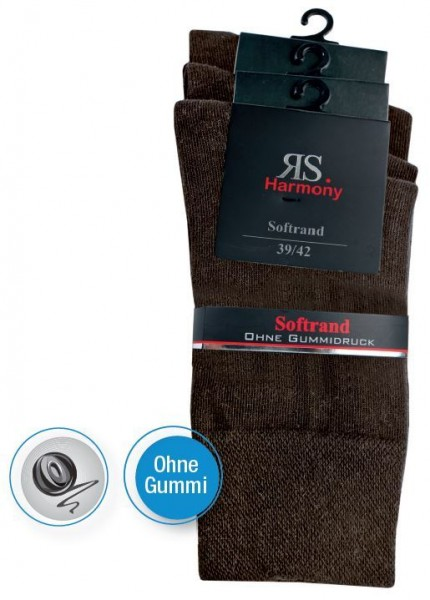 MEN RS HARMONY EXTRA STRUMPF - Mocca - 3 Pack