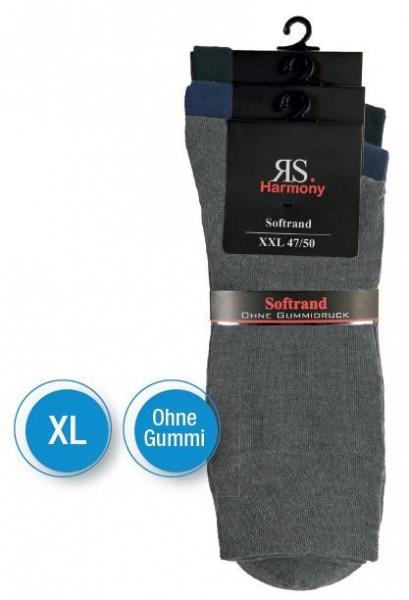 XL HERRENSTRUMPF CLASSIC - Ohne Gummi - 3 Farben 3 Pack