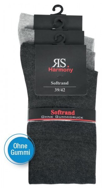 MEN RS HARMONY EXTRA STRUMPF - silber - 3 Pack