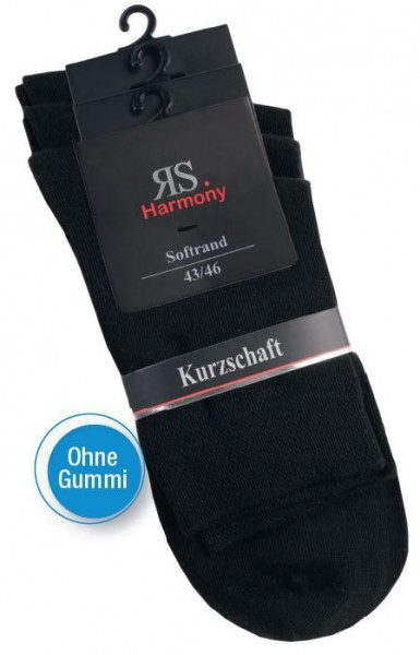 MEN RS HARMONY KURZSCHAFTSTRUMPF - Ohne Gummi - schwarz - 3 Pack