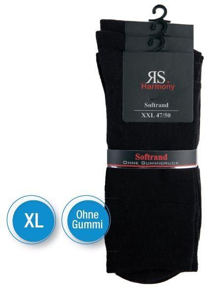 XL HERRENSTRUMPF SCHWARZ - Ohne Gummi - 3 Pack