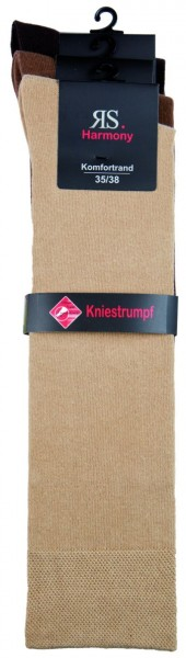 EXTRA - KNIESTRUMPF NATUR - Natur Farben - 3 Pack