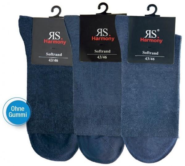 MEN RS HARMONY KURZSCHAFTSTRUMPF - Ohne Gummi - jeans - 3 Pack